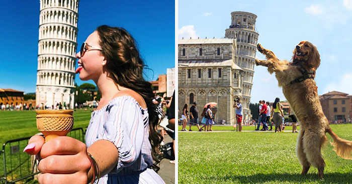 Najbláznivejšie fotografie turistov so šikmou vežou v Pise