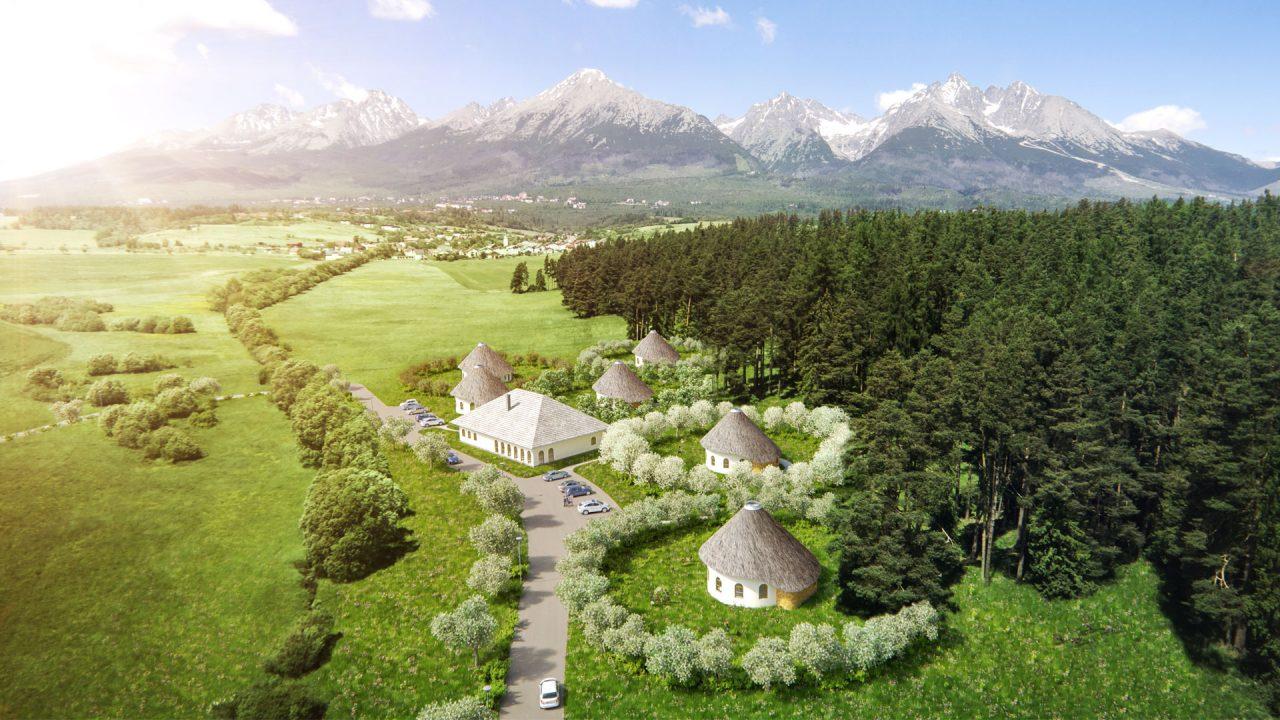 Ekologická dedinka pod Tatrami: bývať sa bude v domoch z hliny pri 20 000 novovysadených stromoch