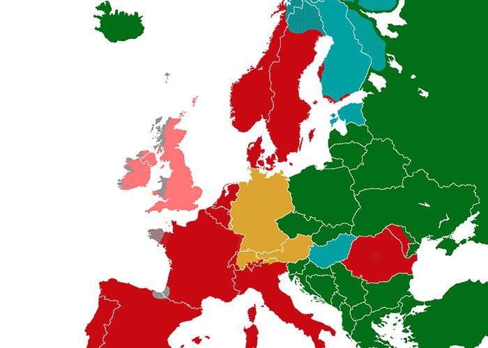 Podrobná mapa ukazujúca, ako dlho trvá učenie jednotlivých jazykov. Na slovenčinu treba veľa času