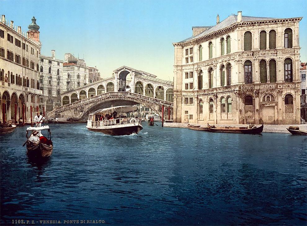 Fotochromatické fotky zachytávajú Benátky pred 100 rokmi