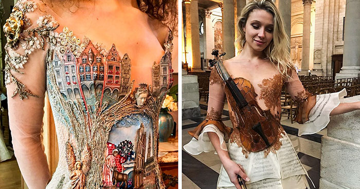 Sadli by vám tieto neuveriteľné šaty z úryvkov starých kníh či steampunk štýlu?