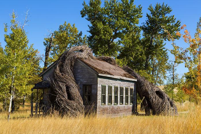 Fascinujúca stavba, pri ktorej je budova s prírodou bytostne spätá