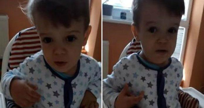Dvojročný chlapček a jeho perfektný prednes Mor ho!