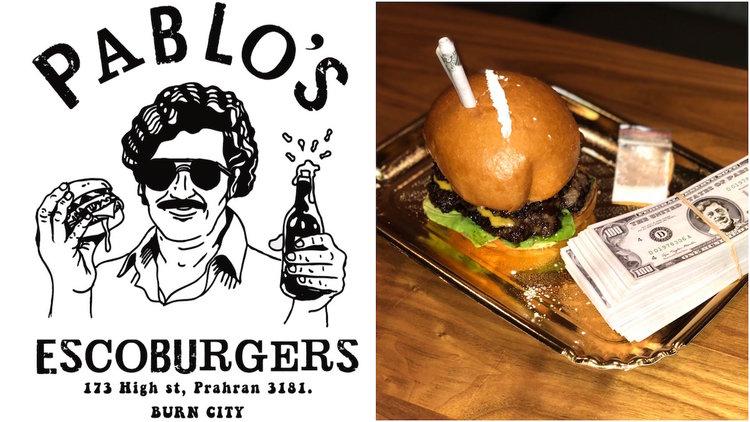 Navštívte reštauráciu Pablo Escoburgers. Nechýba biely prášok či bankovka v žemli