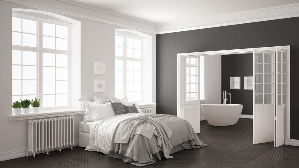 Spálňa spojená s kúpelľou